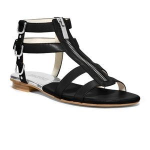Michael Kors black leather sandals size 7